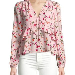 Highline Collective Floral Ruffle Top
